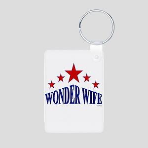 Wonder Wife Aluminum Photo Keychain