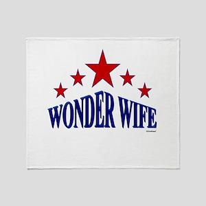 Wonder Wife Throw Blanket