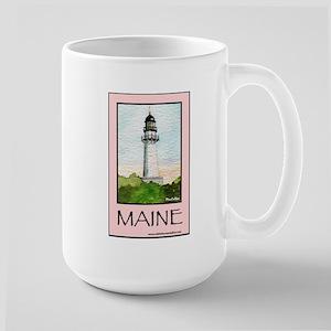 Cape Elizabeth Light Large Mug