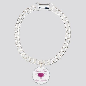 Heart For New Great Grandmas Charm Bracelet, One C