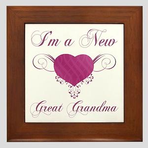 Heart For New Great Grandmas Framed Tile