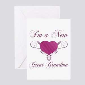 Heart For New Great Grandmas Greeting Card