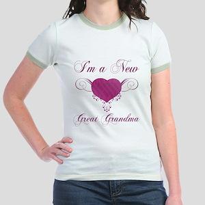 Heart For New Great Grandmas Jr. Ringer T-Shirt