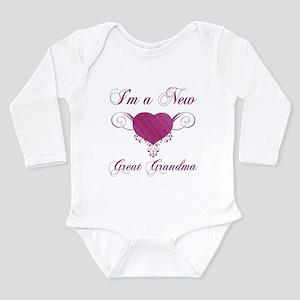 Heart For New Great Grandmas Long Sleeve Infant Bo