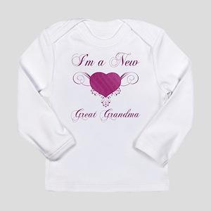 Heart For New Great Grandmas Long Sleeve Infant T-