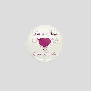 Heart For New Great Grandmas Mini Button