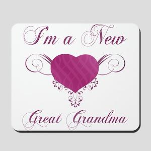 Heart For New Great Grandmas Mousepad