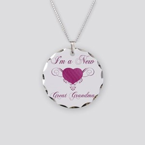 Heart For New Great Grandmas Necklace Circle Charm