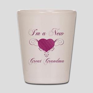 Heart For New Great Grandmas Shot Glass