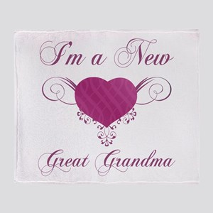 Heart For New Great Grandmas Throw Blanket