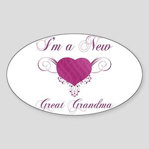 Heart For New Great Grandmas Sticker (Oval)
