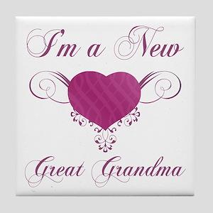 Heart For New Great Grandmas Tile Coaster