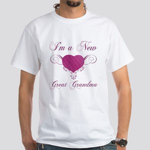 Heart For New Great Grandmas White T-Shirt