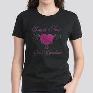 Heart For New Great Grandmas Women's Dark T-Shirt