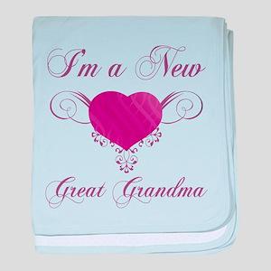 Heart For New Great Grandmas baby blanket