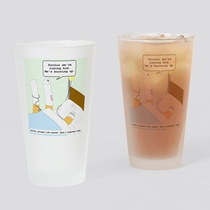 Dying cigarette Pint Glass