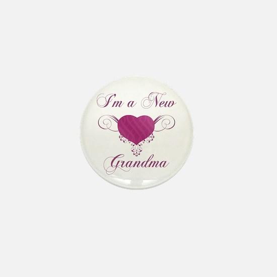 Heart For New Grandmas Mini Button
