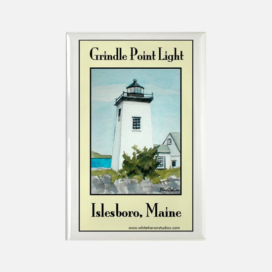 Grindle Point Light Rectangle Magnet