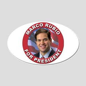 Marco Rubio for President 22x14 Oval Wall Peel