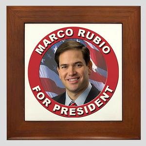 Marco Rubio for President Framed Tile
