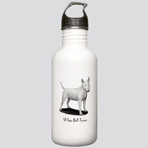 White Bull Terrier Stainless Water Bottle 1.0L