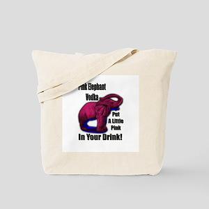 Pink Elephant Vodka Tote Bag