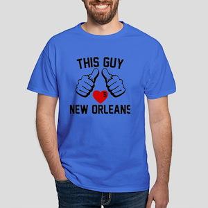 This Guy Loves New Orleans Dark T-Shirt