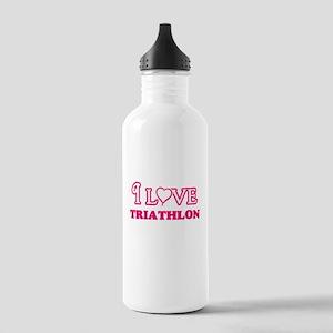 I Love Triathlon Stainless Water Bottle 1.0L