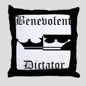 Benevolent Dictator Throw Pillow