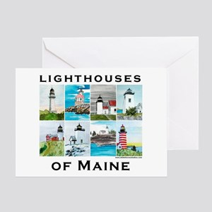 Lighthouses of Maine 2 Greeting Card