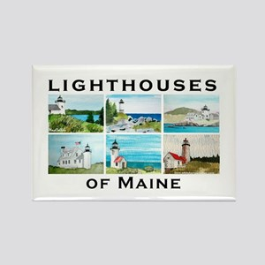 Lighthouses of Maine Rectangle Magnet