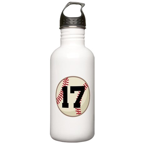 Baseball Player Number 17 Team Stainless Water Bot