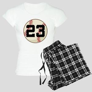Baseball Player Number 23 Team Women's Light Pajam