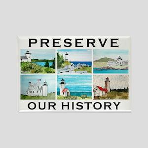 Preserve Lighthouse#1 Rectangle Magnet