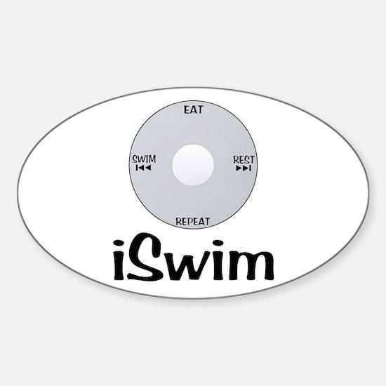 iSwim Sticker (Oval)