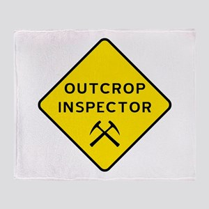 Outcrop Inspector Throw Blanket
