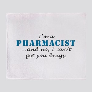 Pharmacist Drugs Throw Blanket