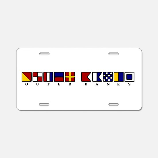 The Outer Banks Aluminum License Plate