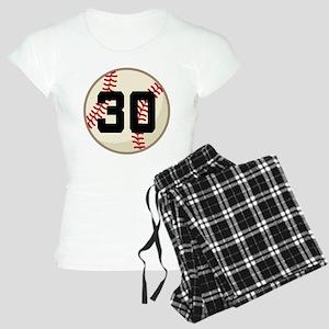 Baseball Player Number 30 Team Women's Light Pajam