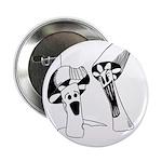 "Mushroom Maiden 2.25"" Button (10 pack)"