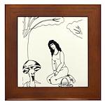 Mushroom Maiden Framed Tile