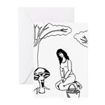 Mushroom Maiden Greeting Cards (Pk of 10)