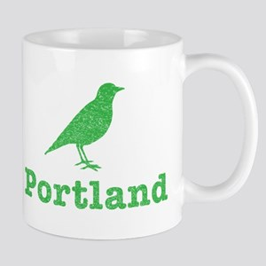 Vintage Green Portland Bird Mug