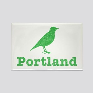 Vintage Green Portland Bird Rectangle Magnet