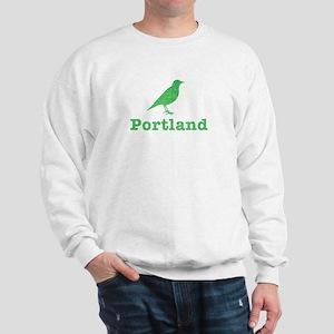 Vintage Green Portland Bird Sweatshirt