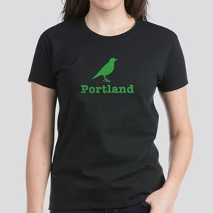 Vintage Green Portland Bird Women's Dark T-Shirt