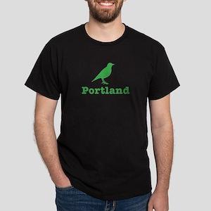 Vintage Green Portland Bird Dark T-Shirt