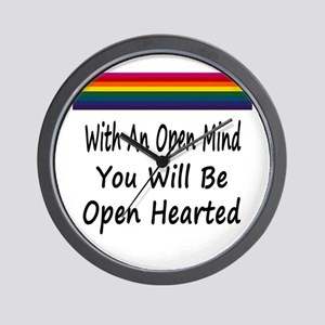 Open Mind Open Hearted Wall Clock