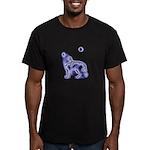 Wolf Black Men's Fitted T-Shirt (dark)