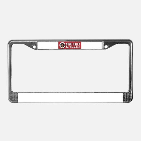 Nikki Haley for President License Plate Frame